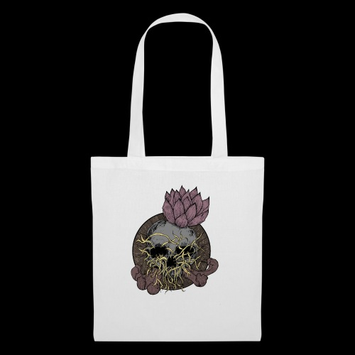 Skull tête de mort et fleur de lotus - Sac en tissu