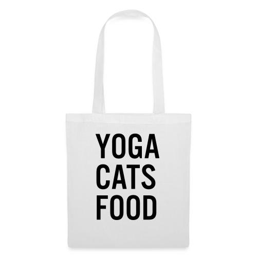 YOGA CATS FOOD LADIES ORGANIC T-SHIRT - Tygväska