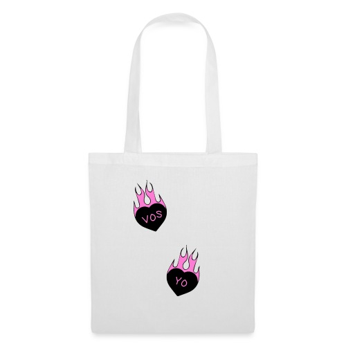 Vos Yo Heart in Flames Tatto - Bolsa de tela
