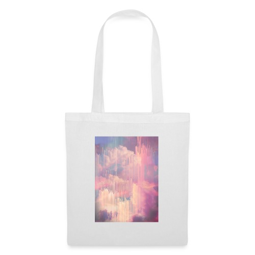 CANDY GLITCHED SKY - Tote Bag