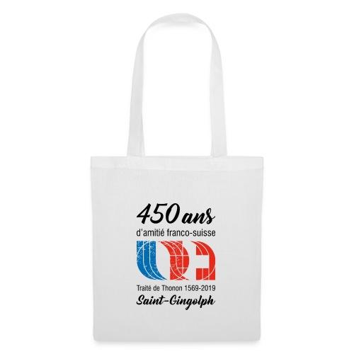 Logo 450 ans d'amitié franco-suisse Saint-Gingolph - Sac en tissu