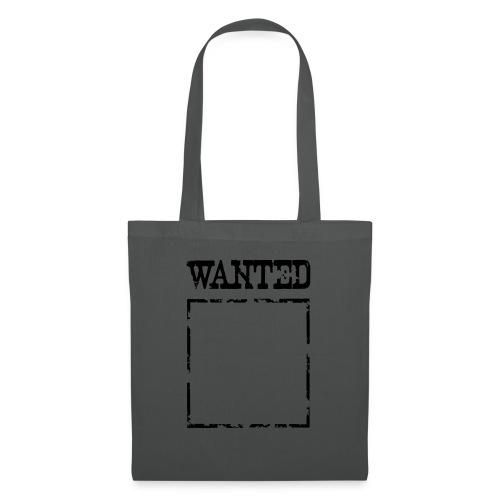 Wanted $ Boarder Frame Rahmen -> zum einschreiben - Stoffbeutel