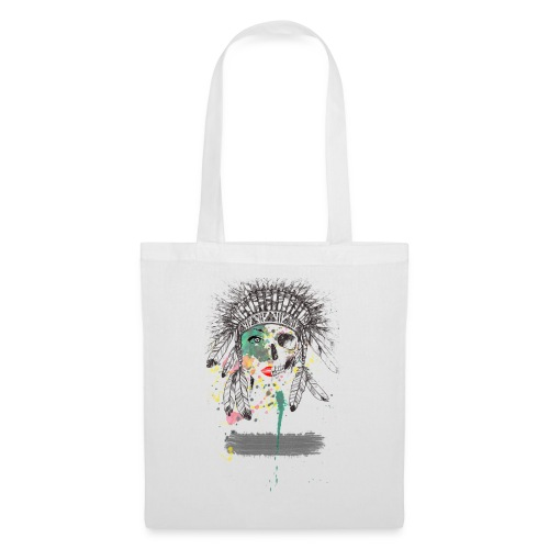 Skull Native American - Tote Bag