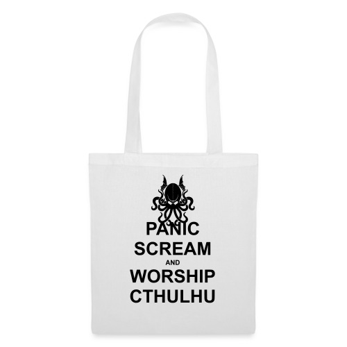 Panic Scream and Worship Cthulhu - Stoffbeutel