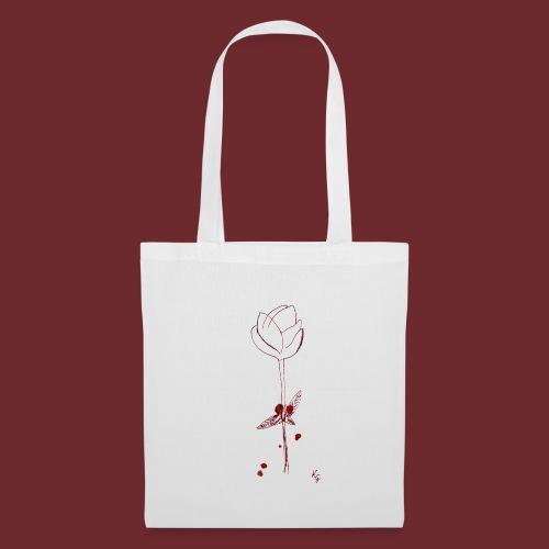 Flower in blood, by Kristijan Grkic - Stoffbeutel