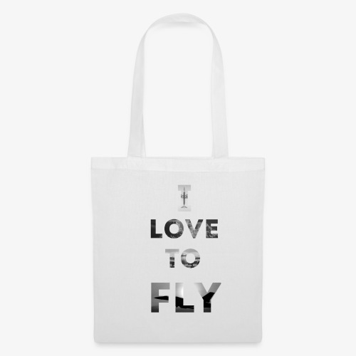 I LOVE TO FLY - Torba materiałowa