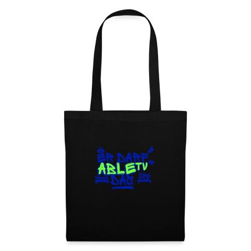 AbleTV Grafitti Logo Marken Shirt (Er Darf Das) - Stoffbeutel