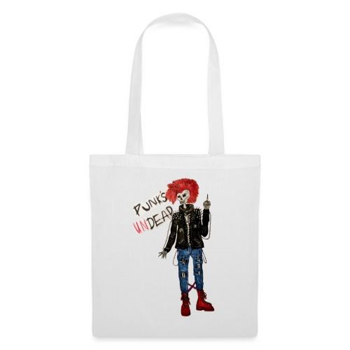 PUNK'S UNDEAD skeleton drawing - Tote Bag