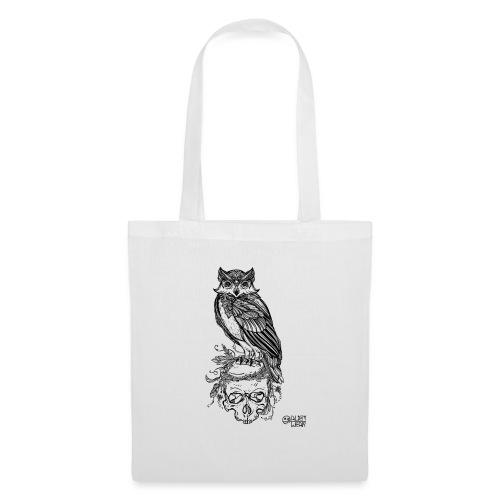 Owl' n Skull - Borsa di stoffa