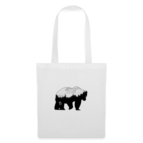 Geometric Mountain Bear - Borsa di stoffa