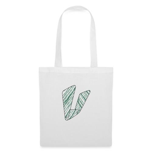 Lettera V verde - Borsa di stoffa