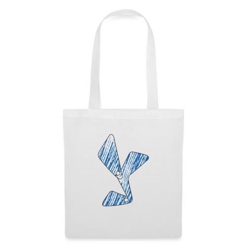 lettera Y blu - Borsa di stoffa