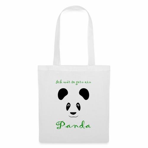 Ich wär so gern ein Panda - Tote Bag