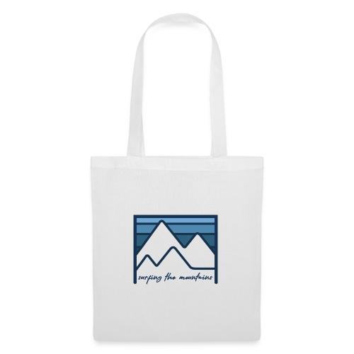 surfing the mountains - dégradé bleu - Tote Bag