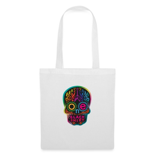 OBS Skull rainbow gif - Stoffbeutel