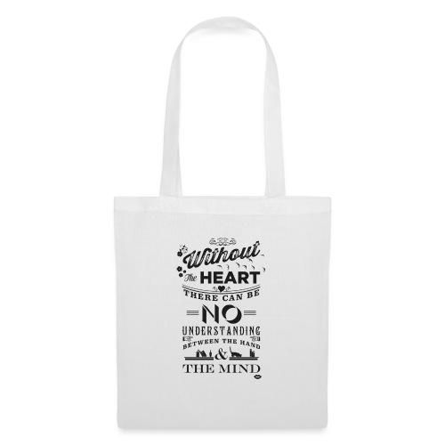 Without the heart black - Tote Bag