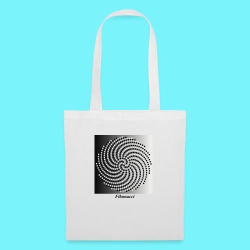 Fibonacci spiral pattern in black and white - Tote Bag