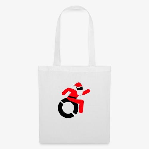 Kerstman in een rolstoel, speciaal voor de Kerst - Tas van stof