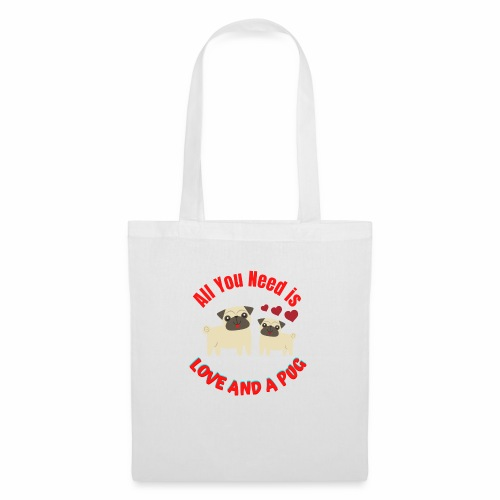 Typography Quotes Pug Lovers T shirt - Tote Bag