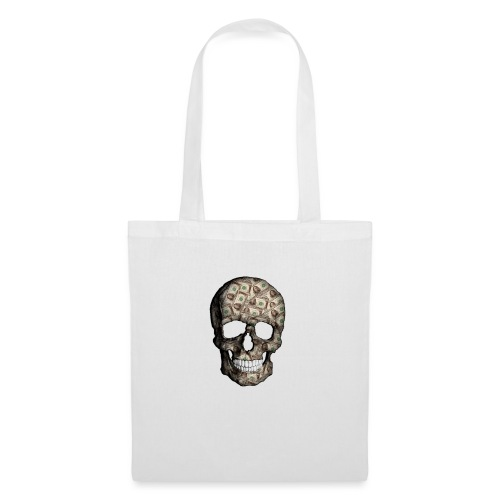 Skull Money Black - Bolsa de tela