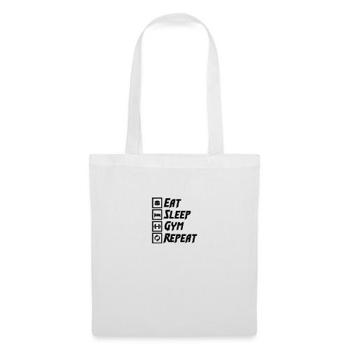 Eat Sleep Gym Repeat Tank Top - Tote Bag