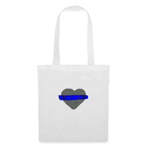 serduszko blu - Torba materiałowa