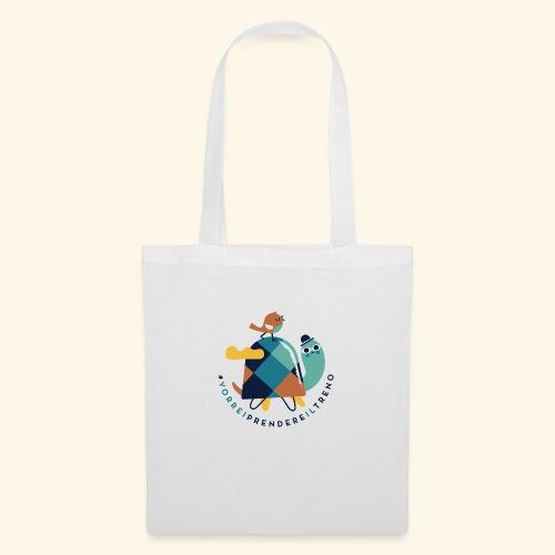 Tartaruga e uccellino - Borsa di stoffa