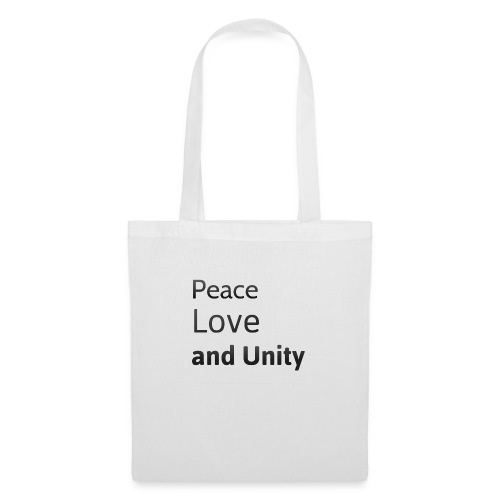 peace love and unity - Tote Bag