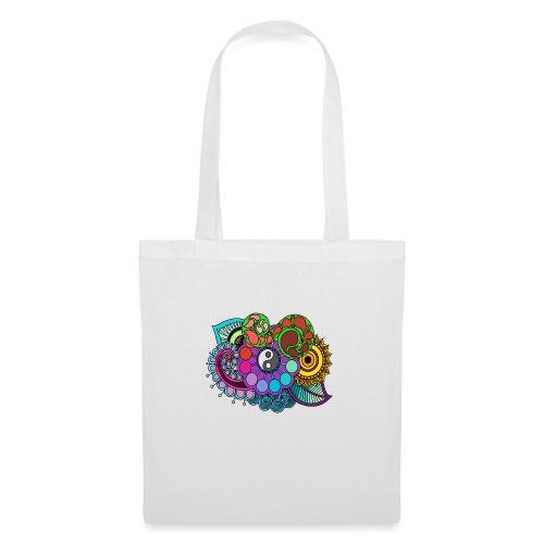 Coloured Nature Mandala - Tote Bag