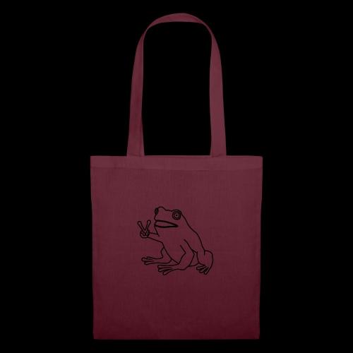 Funny Animal Frog Frosch - Stoffbeutel
