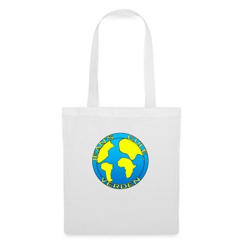 jean's gule verden logo earth - Stoffveske