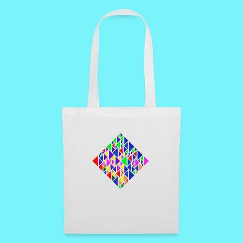 A square school of triangular coloured fish - Tote Bag