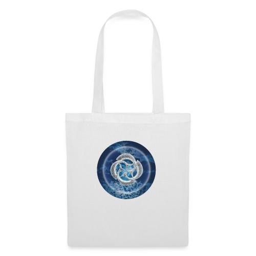 Blue Fish Circle - Tote Bag