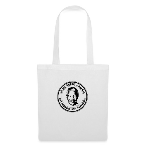 Nelson Mandela T-Shirt Citation Je Ne Perds Jamais - Tote Bag