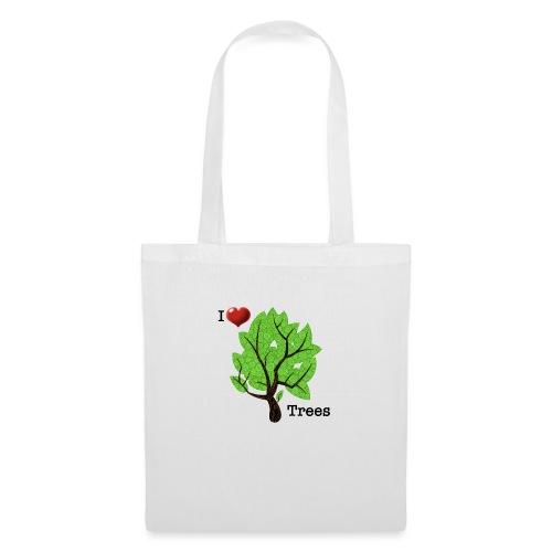 I love trees Ich liebe Bäume - Stoffbeutel