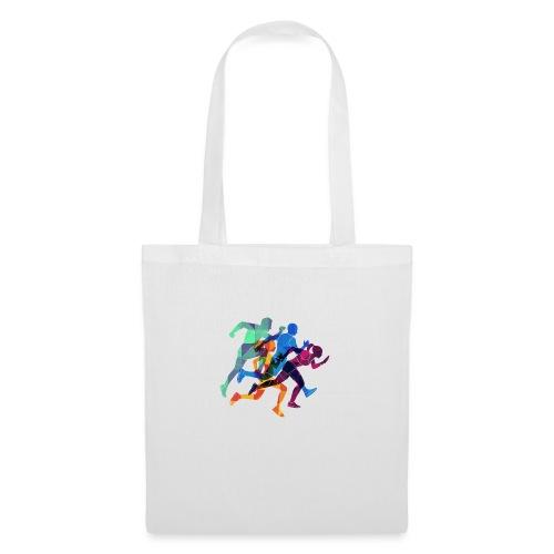 Design Sportif course à pied sprinteurs Colorés - Tote Bag