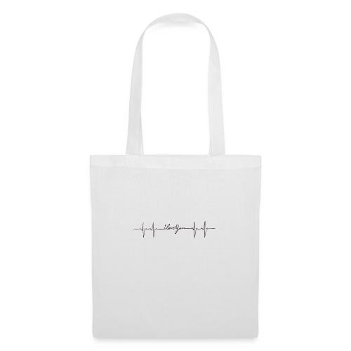 Ik hou van jou hartslag - Tote Bag