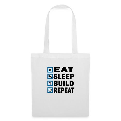EAT SLEEP BUILD REPEAT - Tygväska