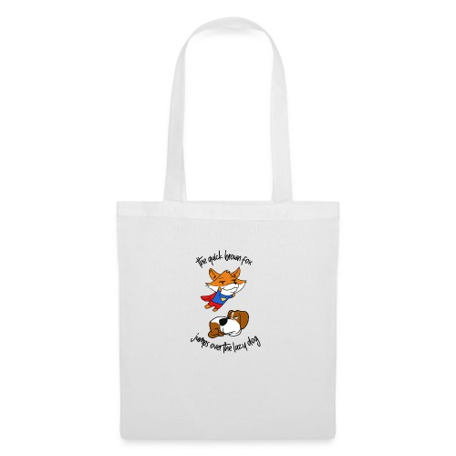 The quick red fox jumps over the lazy dog - Tote Bag