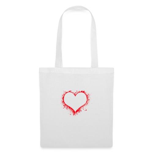 corazón pintura - Bolsa de tela