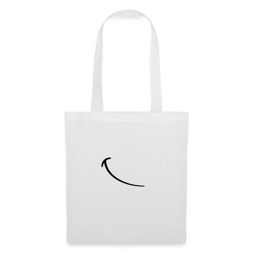 Schiefes Lächeln - Stoffbeutel