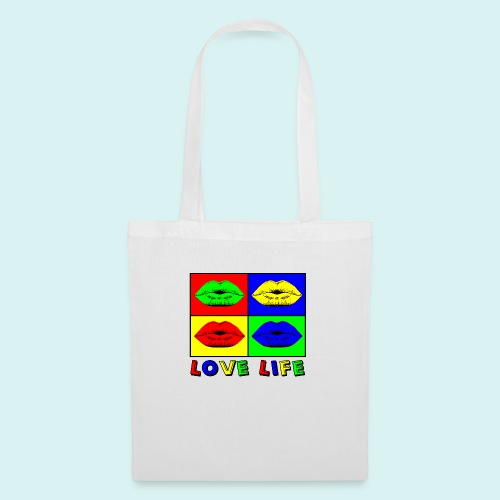 Love Life Multicolore - Tote Bag