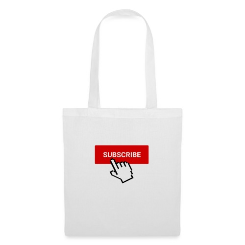 YouTube subscribe button with cursor (2) - Tote Bag