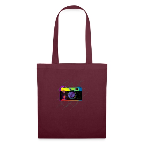 Vintage Rangefinder Film Camera Pop Art Style - Tote Bag