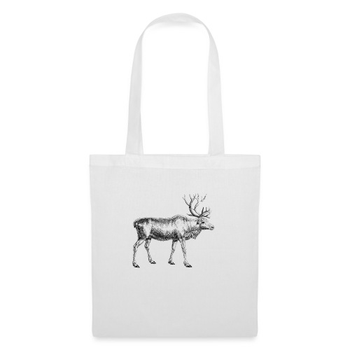 Cervus tarandusm, Rentier, Reindeer, oh my deer - Stoffbeutel