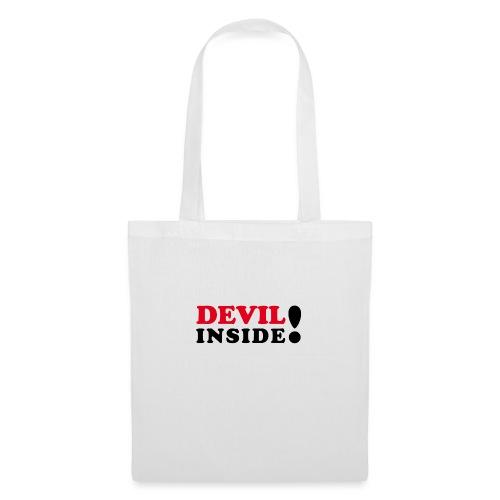 Devil inside - Schriftzug - Stoffbeutel
