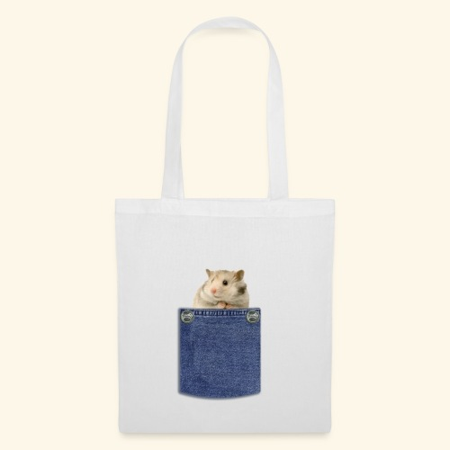 hamster in the poket - Borsa di stoffa