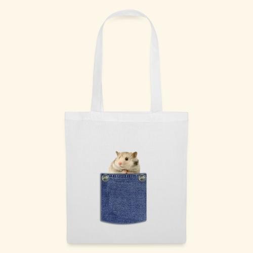 hamster in the poket - Borsa di stoffa
