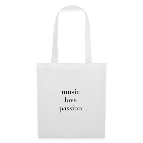 music love passion - schwarz - Stoffbeutel