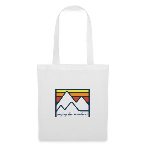 surfing the mountains - dégradé orange - Tote Bag